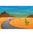 Desert Road Journey vector image