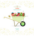 retro banner with tasty pickled foods on garden vector image