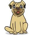 cute pug dog cartoon vector image vector image