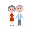 Granny and Grandpa Isolated on white Backgro vector image vector image