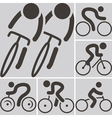 2282 cycling road icon vector image