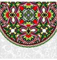 ornamental floral template with circle ethnic dish vector image vector image