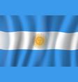 3d flag of argentina national symbol vector image