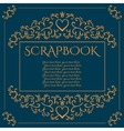 Scrapbook background with scroll patterns vector image