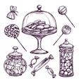 Candy Sketch Set vector image