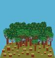deforestation vector image vector image