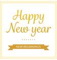 gold happy new year greetings card vector image