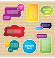 Various Speech Bubbles vector image vector image