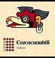 aztec cozcacuauhtli vector image