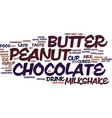 Best recipes chocolate peanut butter milkshake vector image