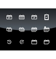 Calendar icons on black background vector image