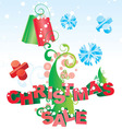 christmas tree sale vector image