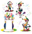 clowns set vector image