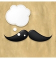 Moustaches On Old Paper And Speech Bubble vector image