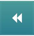 rewind back icon vector image