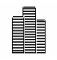 Skyscrapers in Singapore icon simple style vector image