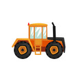 tractor agriculture industrial farm equipment vector image