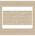 stencil template of UK flag on wooden background vector image