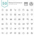 Money and Commerce Line Icon Sets vector image vector image