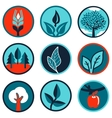 emblems and signs with leaves and trees vector image vector image