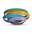 3d colored rings vector image vector image