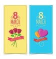 Women Day banners vector image vector image