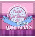 Design Christmas card vector image