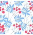 Rowanberry branch seamless pattern vector image vector image