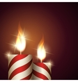 Christmas Candles Background vector image