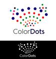 Color Dots Logo vector image
