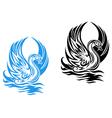 beautiful swan vector image vector image