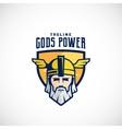 Gods Power Sport Team or League Logo vector image vector image
