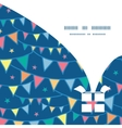 colorful doodle bunting flags Christmas gift box vector image
