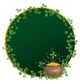 frame for St Patricks Day vector image