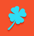 leaf clover sign whitish icon on brick vector image