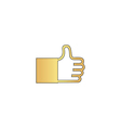 Thumbs up computer symbol vector image