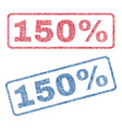 150 percent textile stamps vector image