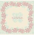 ornate floral invitation card vector image