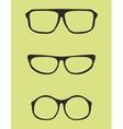 Black nerd secretary or teacher glasses vector image vector image