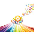 refreshing rainbow wave vector image