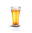 glass with drink on the white background vector image vector image
