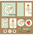 valentines cards set vector image