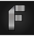Letter metal chrome ribbon - F vector image vector image