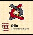 Aztec symbol Ollin vector image