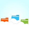 cloud folder vector image