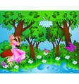 Fairyland background vector image