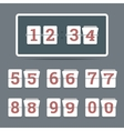 Flip clock in flat style with all flipping numbers vector image