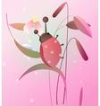 Ladybird on a flower vector image