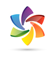 Logo abstract circle multicolor vector image