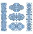 ornamental floral adornment of blue colour vector image